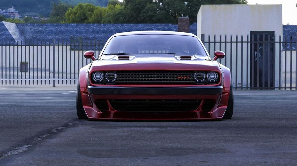 Clinched Widebody Dodge Challenger SRT8 Tuning Hellcat Redeye 2 FatMan   Clinched Widebody Dodge Challenger SRT8