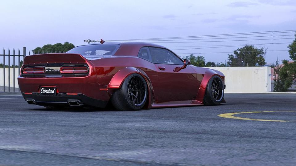 Clinched Widebody Dodge Challenger SRT8 Tuning Hellcat Redeye 5 FatMan   Clinched Widebody Dodge Challenger SRT8