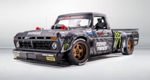 Gymkhana 10 Tuning Hoonitruck 1977 Ford F 150 8 310x165 50 Jahre Hot Wheels Ford F 150 Monster von Brad DeBerti