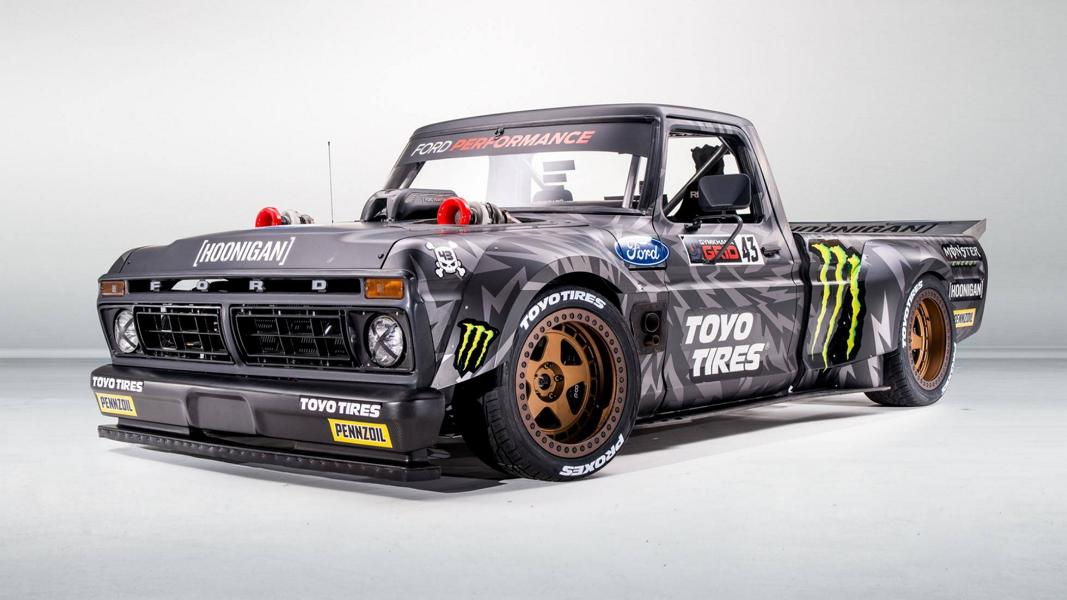 Gymkhana 10 Tuning Hoonitruck 1977 Ford F 150 8 Hauptrolle in Gymkhana 10 1977 Ford F 150 mit 928 PS