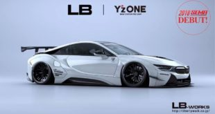 Widebody Hybrid Liberty Walk BMW i8 SEMA 2018 Tuning 1 310x165 Tokyo Auto Salon: Widebody Ferrari 308 GTB by Liberty Walk