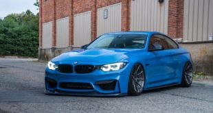Yas Marina Blue ADV.1 Carbon Bodykit Tuning BMW M4 Coupe 15 310x165 BMW M6 Gran Coupe auf ADV.1 Wheels Schmiedfelgen