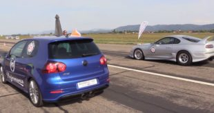 2 x 1.000 HP Toyota Supra Vs. VW Golf R32 310x165 Video: 2 x 1.000 HP Toyota Supra Vs. فولكس فاجن جولف R32
