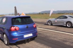 2 x 1.000 HP Toyota Supra vs. VW Golf R32 310x205 Video: 2 x 1.000 HP   Toyota Supra vs. VW Golf R32