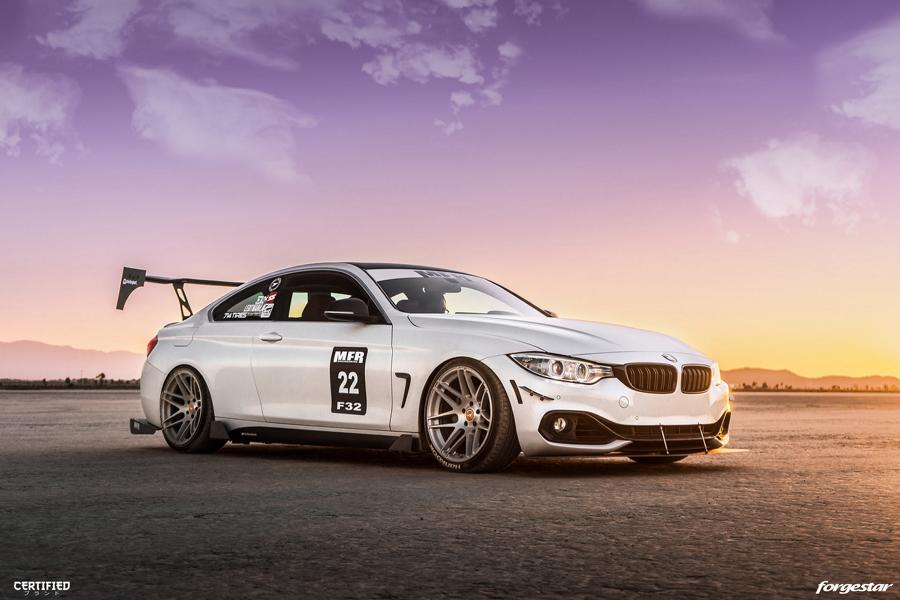 BMW 435i Coupe Forgestar F14 Tuning 18 Für den Racetrack   BMW 435i Coupe auf Forgestar Alu's
