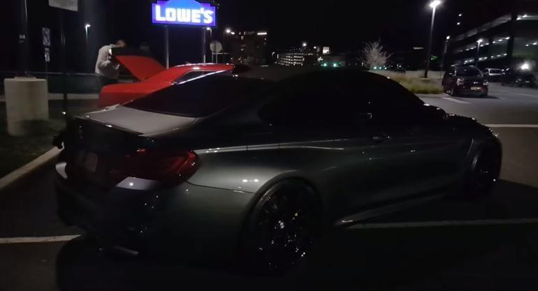 BMW M4 Coupe vs. Dodge Challenger Hellcat Video: BMW M4 Coupe vs. Dodge Challenger Hellcat