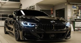 BMW M850i xDrive Coup%C3%A9 G15 Tieferlegung Tuning 6 310x165 21 Zoll ANRKY AN38 Felgen am Two Face BMW M850i Coupe