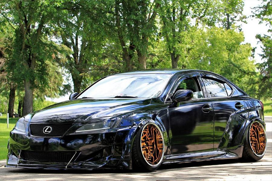 Clinched Lexus IS Widebody FPF RS 2 Airride Tuning 1 Breiter Japaner: Clinched Widebody Lexus IS mit Airride