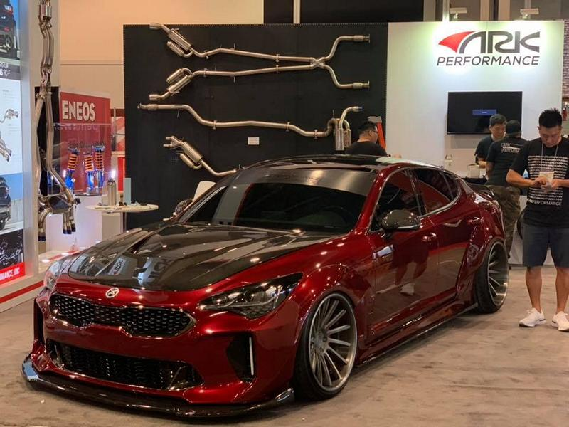 kia stinger mit legato widebody kit von ark performance. Black Bedroom Furniture Sets. Home Design Ideas