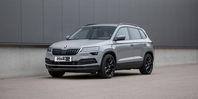 czech tec skoda karoq now with h r sportfedern. Black Bedroom Furniture Sets. Home Design Ideas