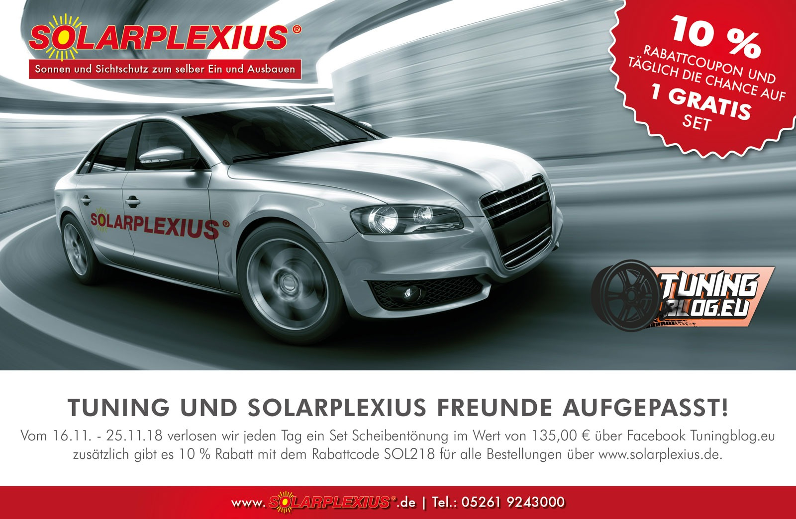 Solarplexius the optimal sun protection for the car