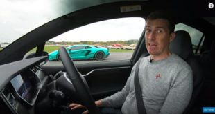 Tesla Model X P100D vs. Lamborghini Aventador S 310x165 Video: Tesla Model X P100D vs. Lamborghini Aventador S