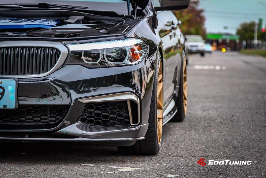 BMW G30 540i Limousine HRE FF01 Carbon Bodykit Tuning 1 BMW G30 540i Limousine auf HRE FF01 Schmiedefelgen