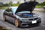 BMW G30 540i Limousine HRE FF01 Carbon Bodykit Tuning 14 155x103 BMW G30 540i Limousine auf HRE FF01 Schmiedefelgen
