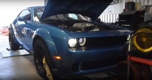 Dodge Demon mit 1.000 PS auf dem Pr%C3%BCfstand 310x165 Video: 2 x 1.000 PS   Dodge Demon vs. Charger Hellcat