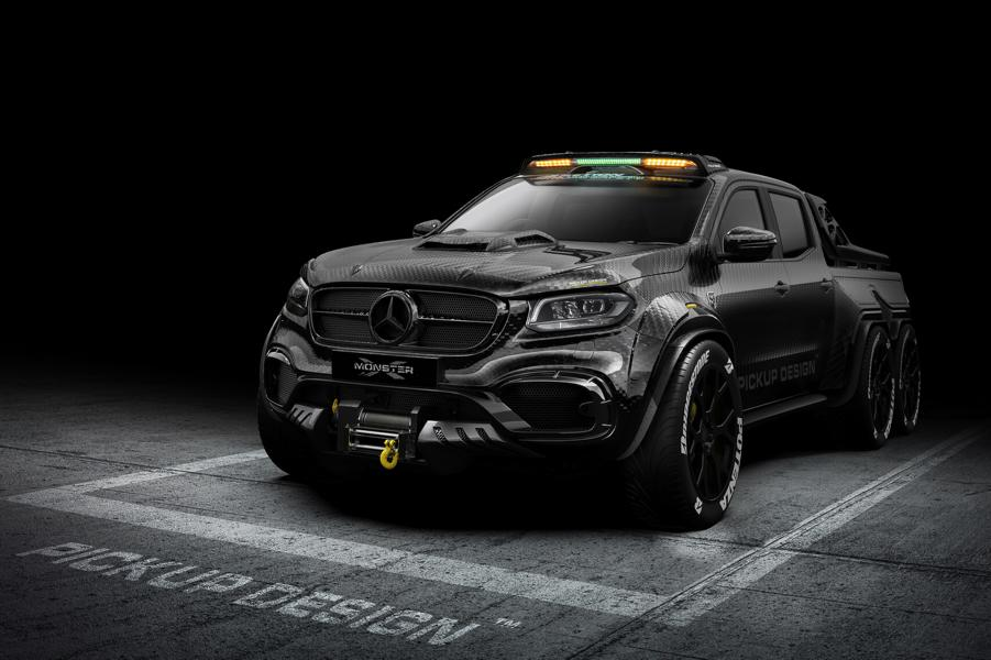 EXY Monster X Concept Mercedes X Klasse W470 Tuning Carbon 3 The King   EXY Monster X Concept Mercedes X Klasse