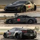 Liberty Walk Widebody BMW i8 Airride Savini Folierung 12 135x135 Ultrafett: Liberty Walk Widebody BMW i8 mit Airride Fahrwerk