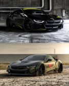 Liberty Walk Widebody BMW i8 Airride Savini Folierung 38 135x169 Ultrafett: Liberty Walk Widebody BMW i8 mit Airride Fahrwerk
