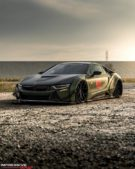 Liberty Walk Widebody BMW i8 Airride Savini Folierung 8 135x169 Ultrafett: Liberty Walk Widebody BMW i8 mit Airride Fahrwerk