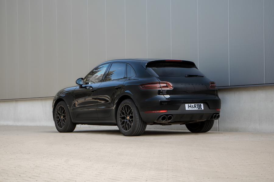 Porsche Macan Sportfedern Heck Mehr Dynamic trotz Downsizing: H&R Sportfedern auch für die Porsche Macan 4 Zylinder Modelle