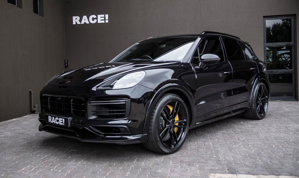 TECHART Porsche Cayenne Turbo Tuning Bodykit Auspuff Carbon 1 TECHART Porsche Cayenne Turbo by RACE! South Africa