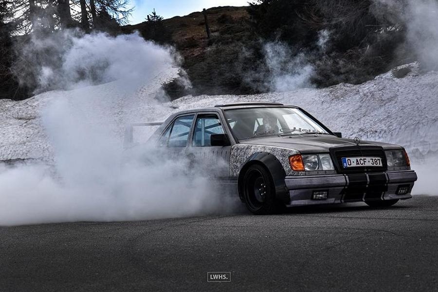 Widebody Mercedes 200E W124 BMW M50 Triebwerk Tuning 9 Widebody Mercedes 200E (W124) mit BMW M50 Triebwerk