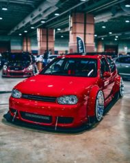 Widebody VW Golf Airlift Tuning R32 BBS R888 Alu%E2%80%99s 1 190x237 Oberhammer! Widebody VW Golf R32 auf BBS R888 Alu's