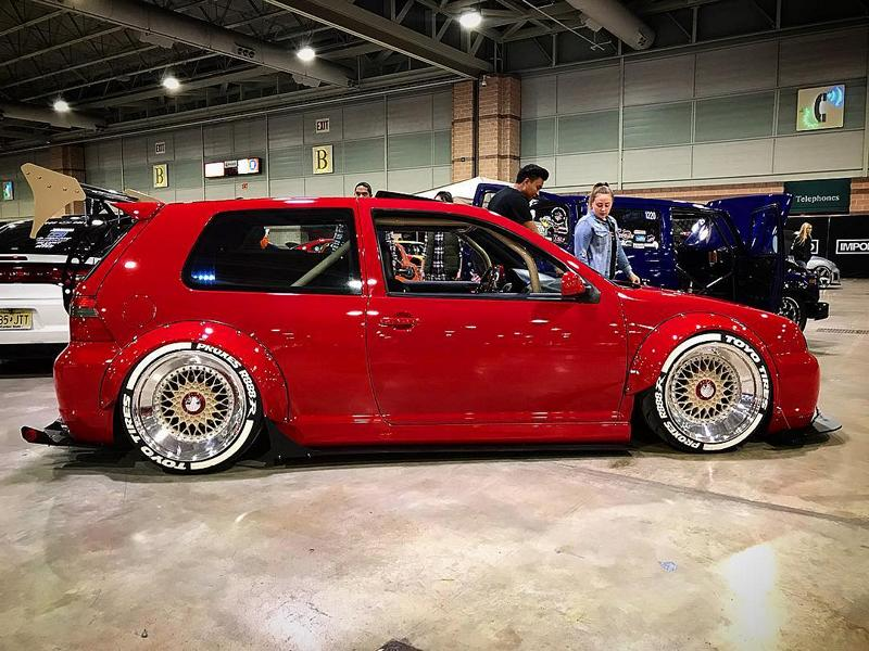 Widebody VW Golf Airlift Tuning R32 BBS R888 Alu's 8 Oberhammer! Widebody VW Golf R32 auf BBS R888 Alu's