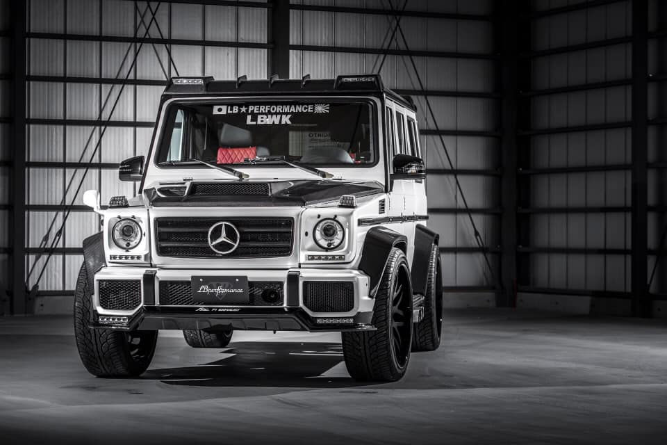 liberty walk widebody mercedes g63 amg w463 tuning 1 Widebody Kits von LibertyWalk   japanischer Tuning Trend