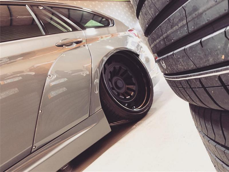 BMW Touring F31 Clinched Widebody Radi8 Tuning 2 Heftig: BMW 3er Touring (F31) mit Clinched Widebody Kit