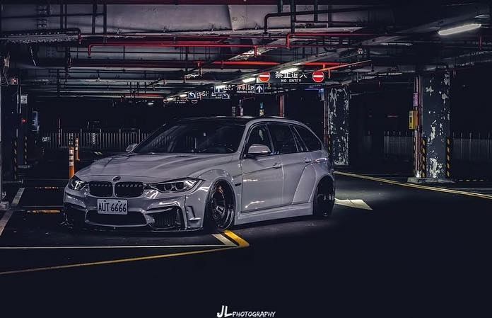 BMW Touring F31 Clinched Widebody Radi8 Tuning 6 Heftig: BMW 3er Touring (F31) mit Clinched Widebody Kit