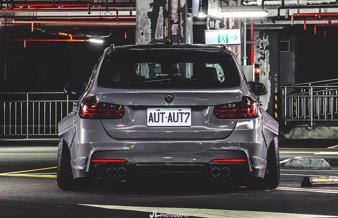 BMW Touring F31 Clinched Widebody Radi8 Tuning 9 Heftig: BMW 3er Touring (F31) mit Clinched Widebody Kit