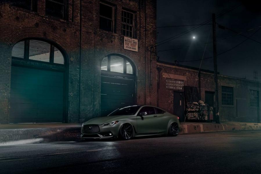 Infiniti Q60 Widebody Ferrada F8FR7 Tuning 4 Infiniti Q60 Widebody mit RS Optik & Airride Fahrwerk