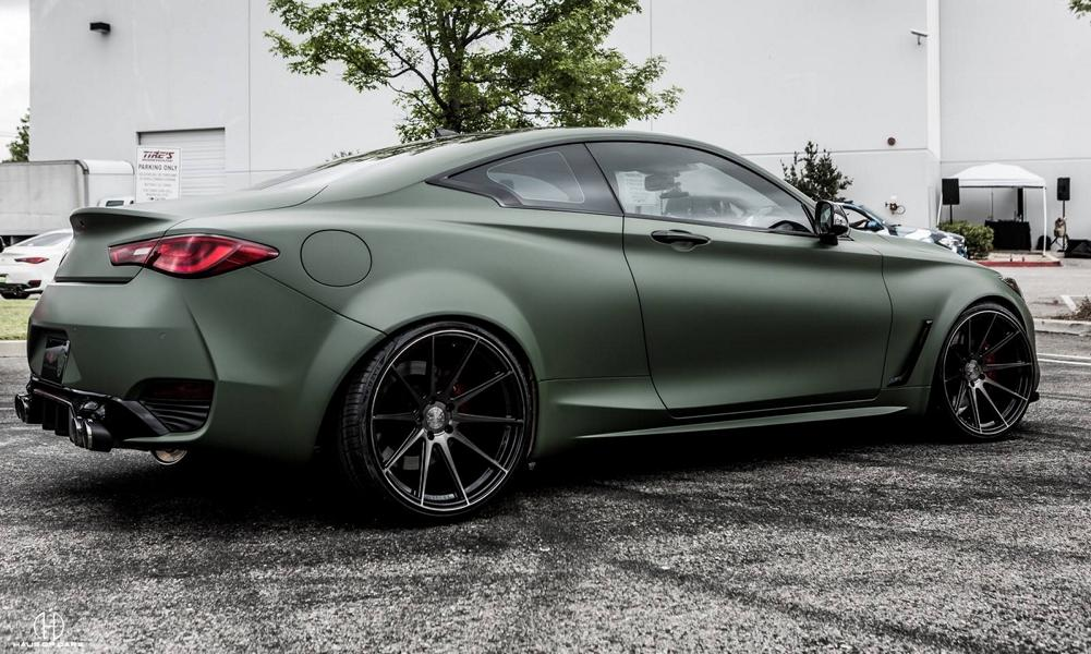 Infiniti Q60 Widebody Ferrada F8FR7 Tuning 9 Infiniti Q60 Widebody mit RS Optik & Airride Fahrwerk