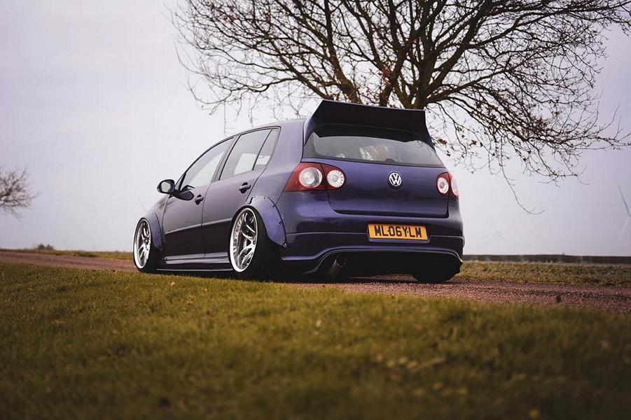 VW Golf R32 Clinched Bodykit airride Work Wheels Tuning 4 Extrem tief & breit: VW Golf R32 mit Clinched Bodykit