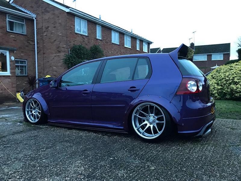 VW Golf R32 Clinched Bodykit airride Work Wheels Tuning 7 Extrem tief & breit: VW Golf R32 mit Clinched Bodykit