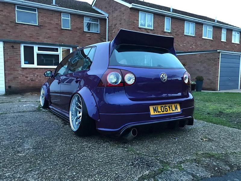 VW Golf R32 Clinched Bodykit airride Work Wheels Tuning 8 Extrem tief & breit: VW Golf R32 mit Clinched Bodykit