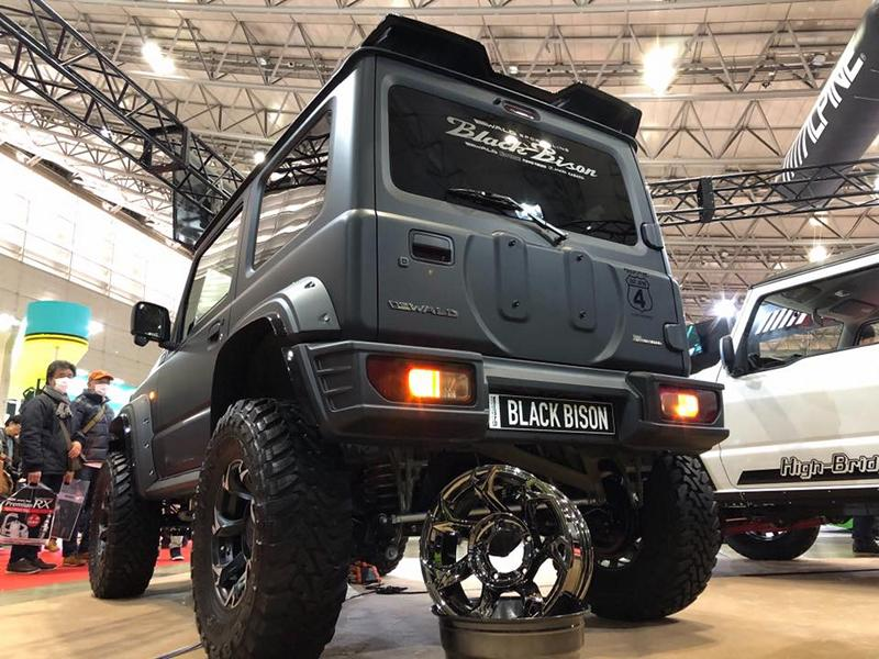 Wald Black Bison Widebody Suzuki Jimny 2019 Tuning 4 Fertig! Wald Black Bison Widebody Suzuki Jimny 2019