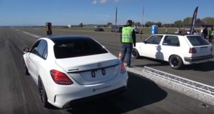 780 PS Mercedes C63 AMG vs. VW Golf MK2 co. 310x165 Video: 500 PS im BR Performance BMW M2 Competition