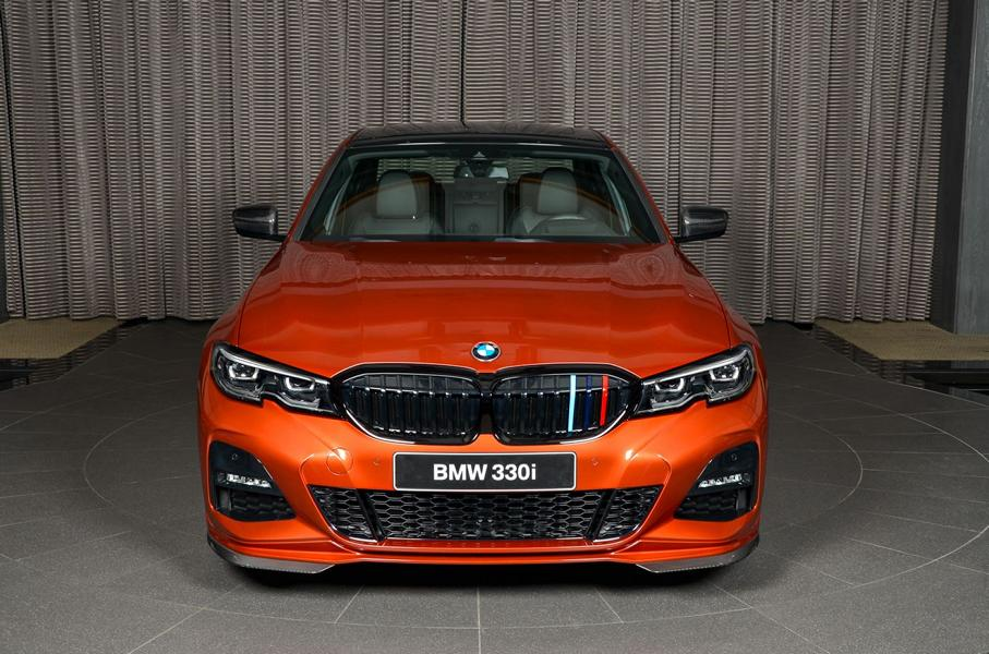 BMW 3er G20 Sunset Orange M Sport Performance Tuning 330i 02 Schick   M Performance Parts am BMW 3er 330i (G20)
