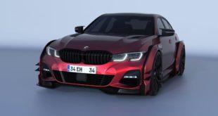 BMW 3er G20 Widebody Rennfahrzeug Tuning 13 310x165 Rendering: Noch Fiktion   BMW M3 mit riesigen Nieren