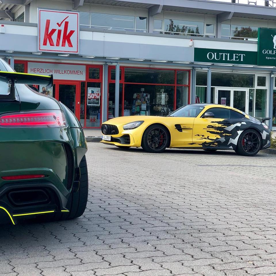 CAMO Sunflower Matt 650 PS Mercedes AMG GT R fostla 8 CAMO Sunflower Matt am 650 PS Mercedes AMG GT R