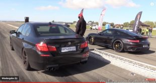 Porsche Turbo S vs VW Golf IV BMW M5 M3 Co. 310x165 Video: Dodge Scat Pack Challenger vs. Dinan BMW X5 M