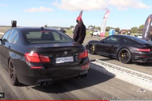 Porsche Turbo S vs VW Golf IV BMW M5 M3 Co. 310x205 Video: Porsche Turbo S vs VW Golf IV, BMW M5, M3 & Co.