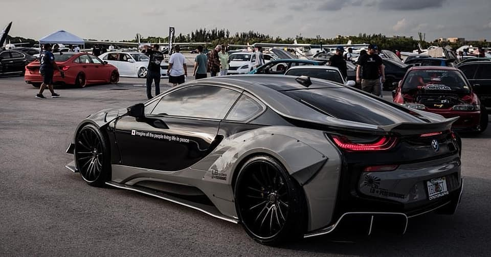 Savini Wheels Liberty Walk Widebody BMW i8 Tuning 9 Savini Wheels & Liberty Walk Widebody Kit am BMW i8