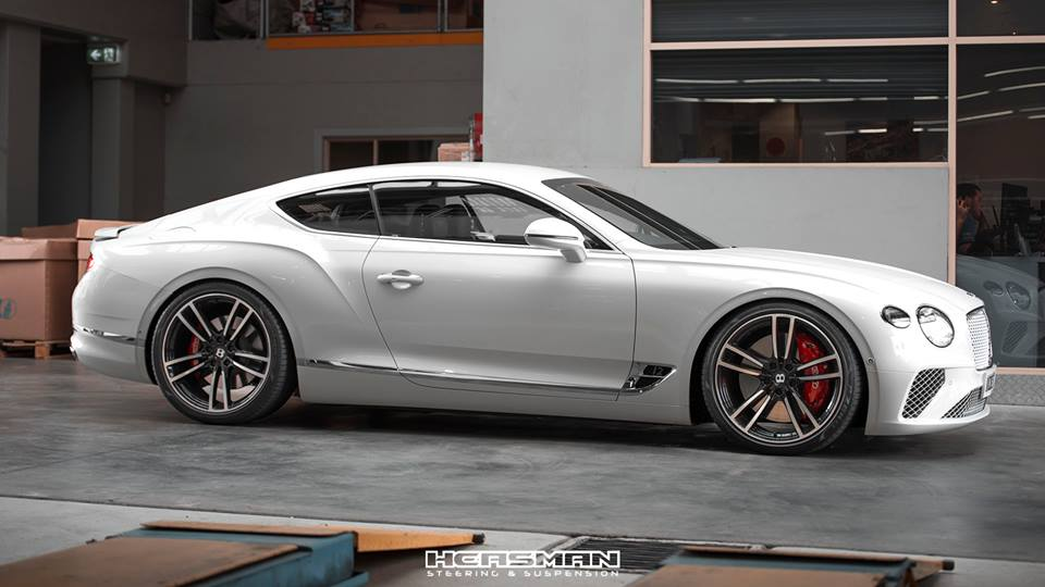 Tieferlegung Bentley Continental GT 2018 Spurplatten Tuning 1 Erster: 2018 Bentley Continental GT Gen.3 von Heasman