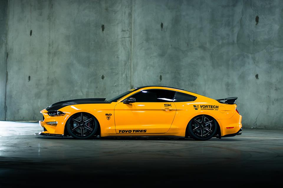 TruFiber Bodykit 2019 Ford Mustang GT Tuning 10 Wide genug   TruFiber Motorhaube am 2019 Ford Mustang GT