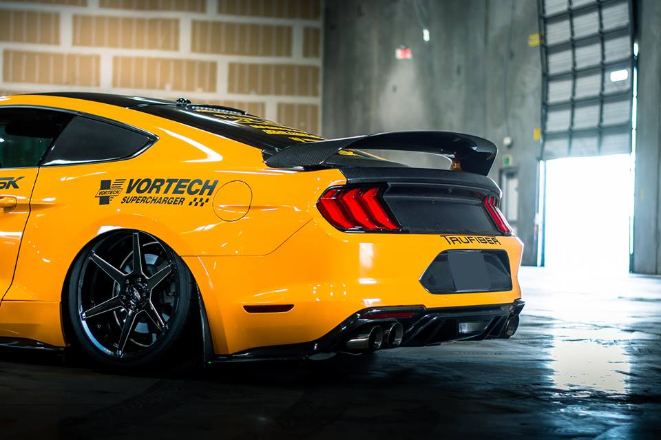 TruFiber Bodykit 2019 Ford Mustang GT Tuning 12 Wide genug   TruFiber Motorhaube am 2019 Ford Mustang GT