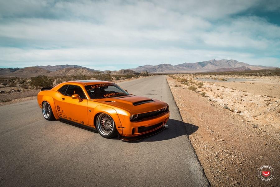 Dodge Challenger Widebody Vossen ERA 3 Airlift Tuning 13 Dodge Challenger SRT Widebody auf Vossen ERA 3 Alus