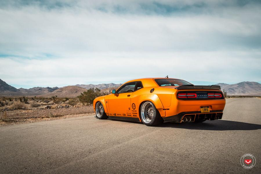 Dodge Challenger Widebody Vossen ERA 3 Airlift Tuning 20 Dodge Challenger SRT Widebody auf Vossen ERA 3 Alus